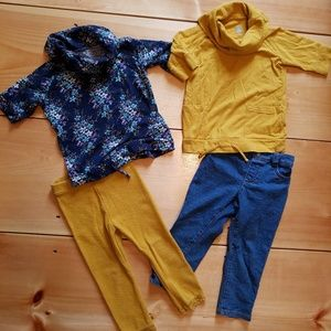 Toddler girl lot 2 outfits 2T Old Navy